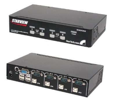 Startechm SV431USB 4 port StarView USB KVM switch