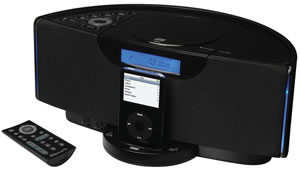 Emerson Home Electronics - EMERSON EM-IE600BK IPod Home Audio System WgiDock