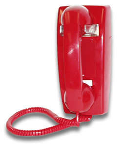 Viking Electronics VK-K-1900W-2 RED! Hot Line Wall Phone