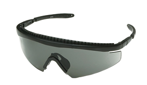 Body Specs PISTOL PRO1 BLACK.13 Black Frame Sunglasses with Smoke Lens  Clear and Amber BDYS014