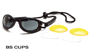 Body Specs BS-CUPS BLACK.13 Black Frame Goggles with Smoke-Green Lens BDYS016