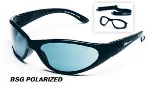 Body Specs BSG BLACK POLARIZED.16 Black Frame Sunglasses with Polarized Lens