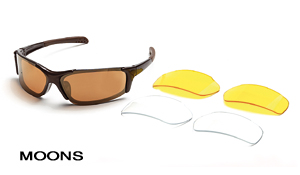 Body Specs MOONS-METALLIC BROWN.3 Metallic Brown Moons Sunglasses with Bronze Mirror Lens