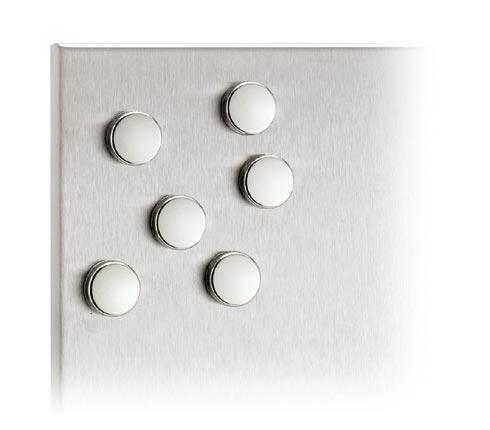 Blomus 66739 MURO Set of 6 Magnets Chrome Plated