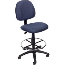 Boss B1615 Drafting Office Chair - Blue