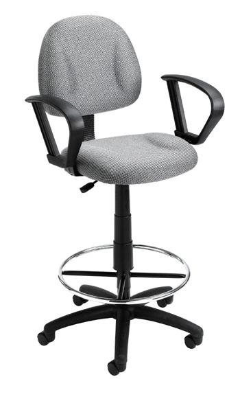 Boss B1615 Drafting Office Chair - Burgundy