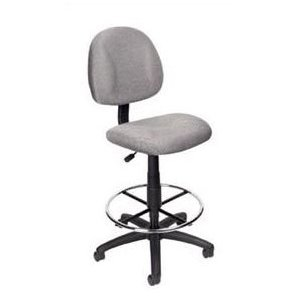 Boss B1615 Drafting Office Chair - Gray