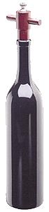 Chef Specialties 16006 14.5 Inch - 37cm Tall Wooden Wine BottleEbony Pepper Mill