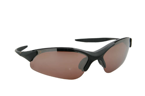XPO X3667PCP COPPER Gator Polarized Rimless Sunglasses - Matte Black - Copper Lens