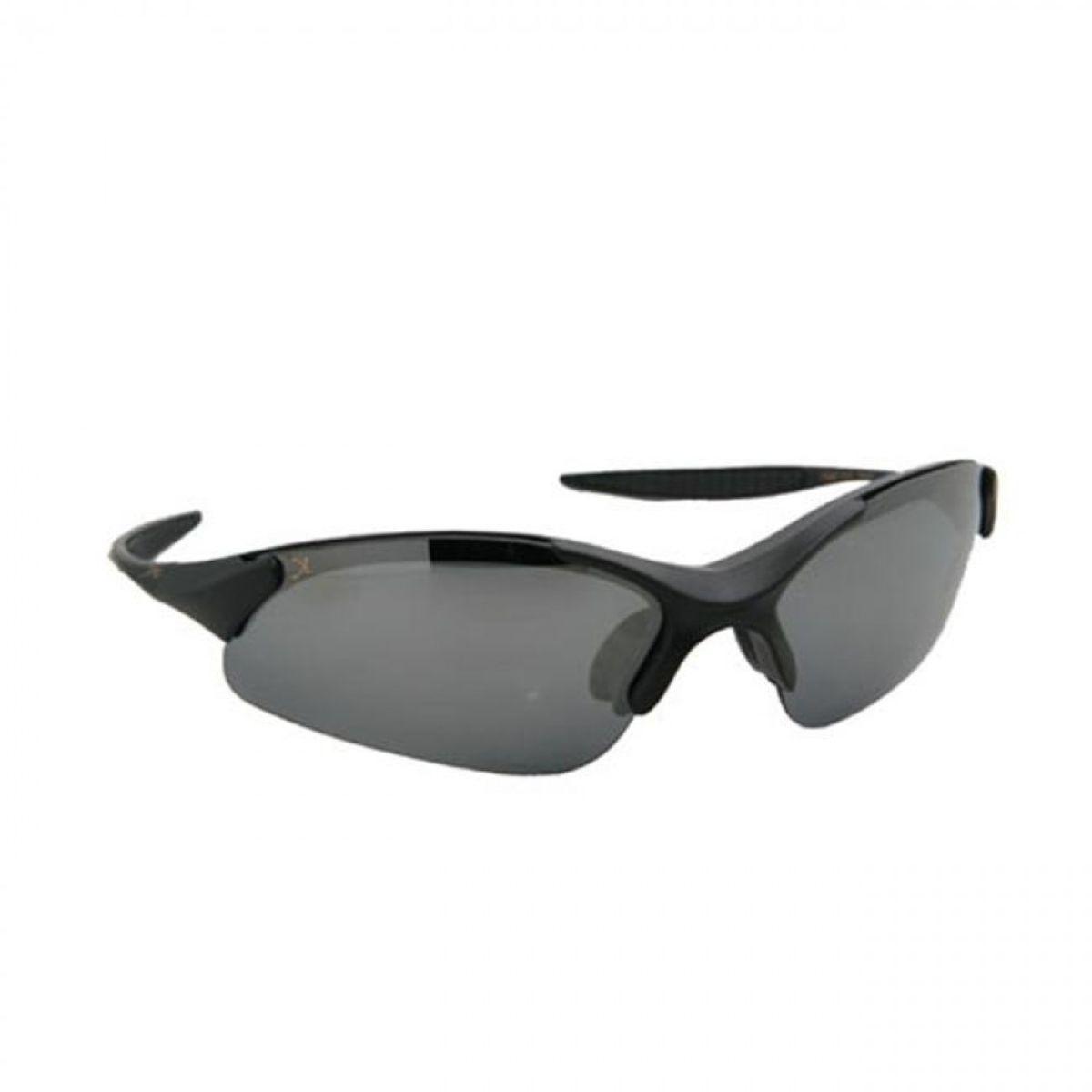 XPO X3667PCP SMOKE Gator Polarized Rimless Sunglasses - Matte Black - Smoke Lens