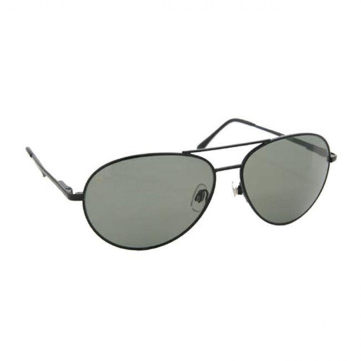 Aviator Sunglasses - Coppermax 3708GPP BLK/SMOKE Aviator Polarized Sunglasses - Matte Black - Smoke Lens