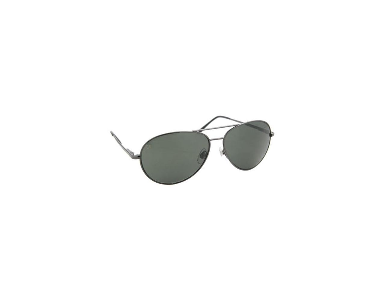Polarized Sunglasses - Coppermax 3708GPP GUN/SMOKE Aviator Polarized Sunglasses - Gunmetal - Smoke Lens