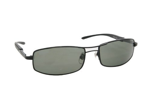 Polarized Sunglasses - Coppermax 3712GPP BLK/SMOKE Archer Polarized Sunglasses - Matte Black - Smoke Lens