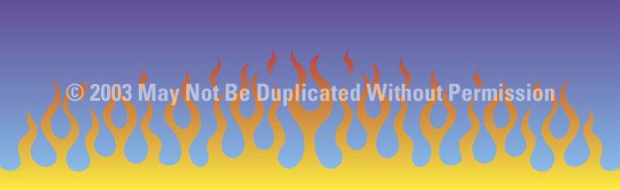 ClearVue Graphics Window Graphic - 16x54 Flame Job 2 FLM-002-16-54