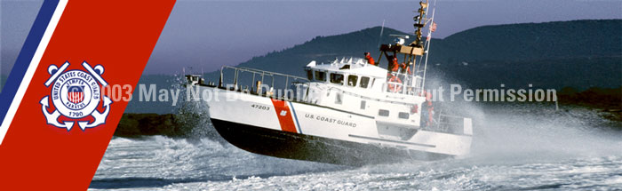 ClearVue Graphics Window Graphic - 16x54 Coast Guard Lifeboat Logo MIL-030-16-54