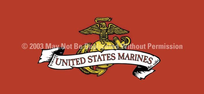 ClearVue Graphics Window Graphic - 30x65 U.S. Marines MIL-001-30-65