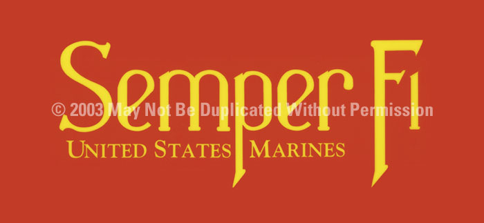 ClearVue Graphics Window Graphic - 30x65 Semper Fi MIL-002-30-65
