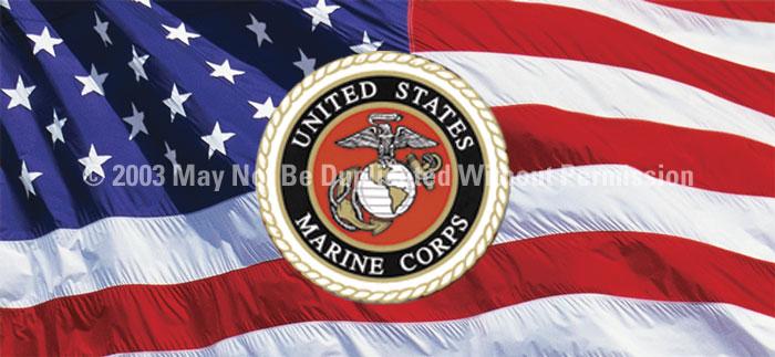 ClearVue Graphics Window Graphic - 30x65 U.S. Marines 2 MIL-004-30-65