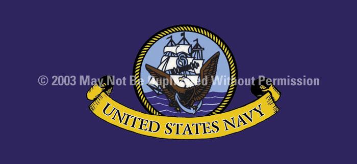 ClearVue Graphics Window Graphic - 30x65 U.S. Navy 2 MIL-006-30-65