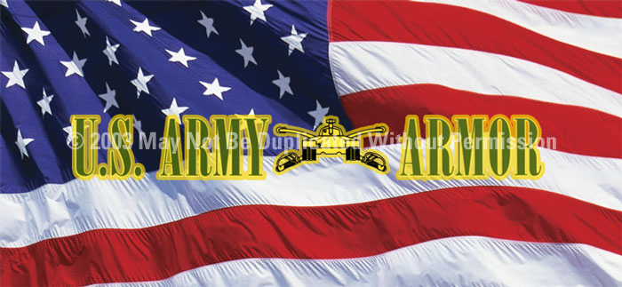 ClearVue Graphics Window Graphic - 30x65 U.S. Army Armor MIL-019-30-65