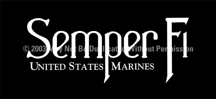 ClearVue Graphics Window Graphic - 30x65 Semper Fi 2 MIL-027-30-65
