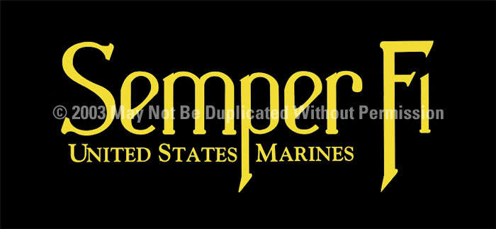 ClearVue Graphics Window Graphic - 30x65 Semper Fi 3 MIL-028-30-65