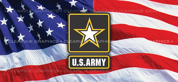 ClearVue Graphics Window Graphic - 30x65 U.S. Army 2 MIL-041-30-65
