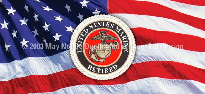 ClearVue Graphics Window Graphic - 30x65 U.S. Marines Retired MIL-045-30-65