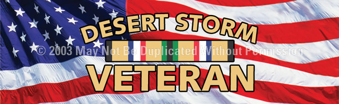ClearVue Graphics Window Graphic - 16x54 Desert Storm Veteran MIL-054-16-54