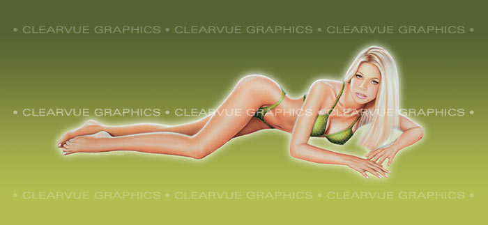 ClearVue Graphics Window Graphic - 30x65 Pin-up Allison PIN-001-30-65