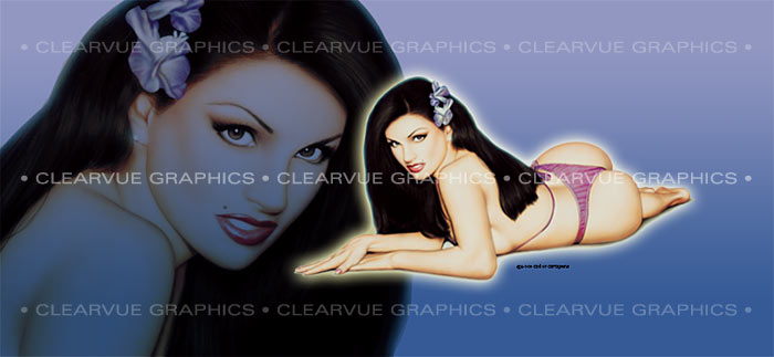ClearVue Graphics Window Graphic - 30x65 Pin-up Angelie PIN-002-30-65