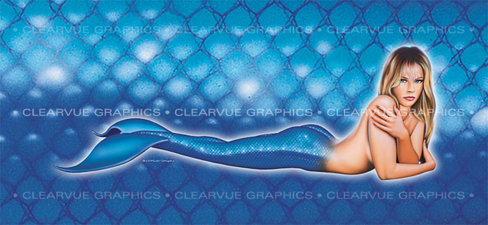 ClearVue Graphics Window Graphic - 30x65 Pin-up Rachel PIN-011-30-65