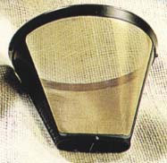 Medelco GF214 #4 Cone-Style Permanent Coffee Filter-8 to 12 cup capacity