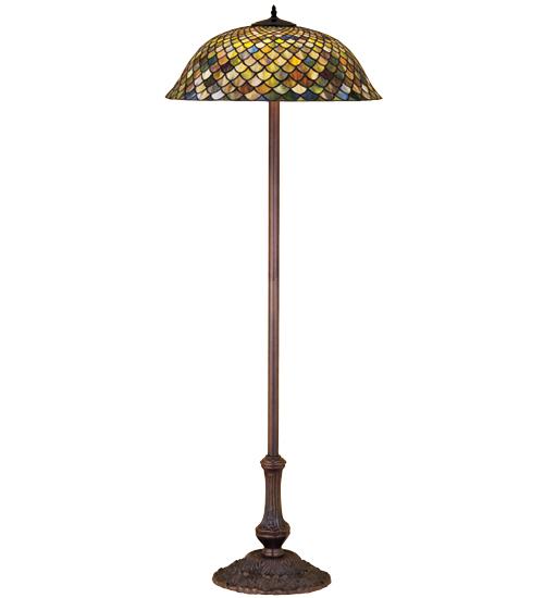 Meyda Tiffany 30456 63 Inch H Tiffany Fishscale Floor Lamp
