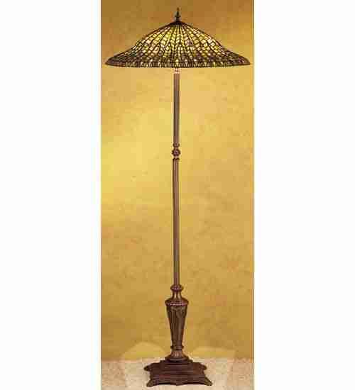 Meyda Tiffany 30994 65 Inch H Lotus Leaf Floor Lamp AA