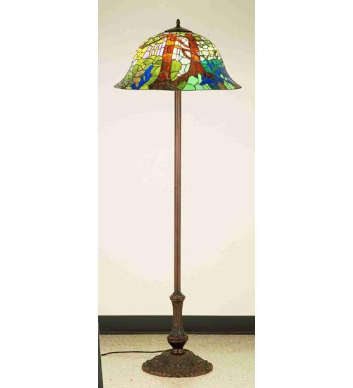Meyda Tiffany 37027 23 Inch Tiffany Landscape-63 Inch H Bulb Floor Base 3lt