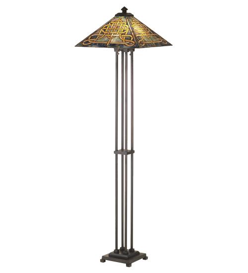 Meyda Tiffany 48023 63 Inch H Knotwork Mission Floor Lamp