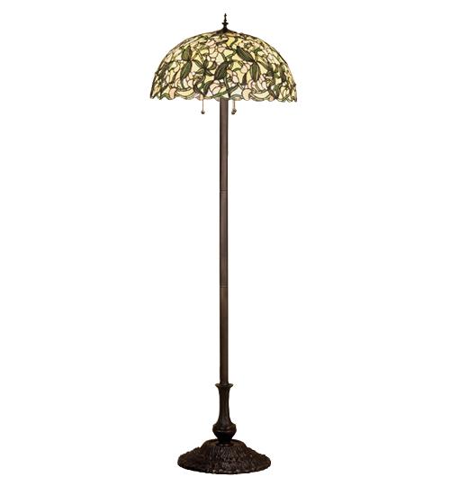 Meyda Tiffany 48623 64 Inch H Sweet Pea Floor Lamp