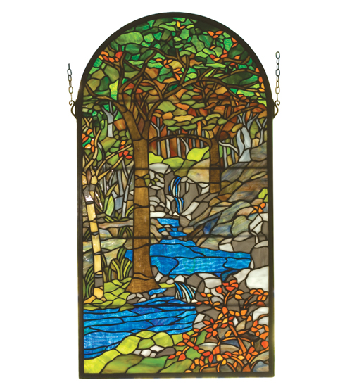 Meyda Tiffany 98255 16 Inch W X 30 Inch H Tiffany Waterbrooks Window