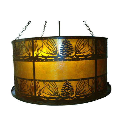 Meyda Tiffany 77906 53 Inch W Pine Cones Inverted Pendant