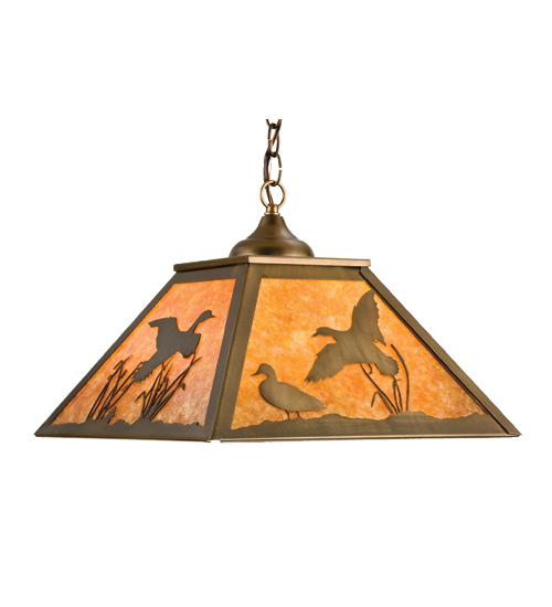 Meyda Tiffany 15280 22.5 Inch Hanging Duck Flight Shade Ac/Am