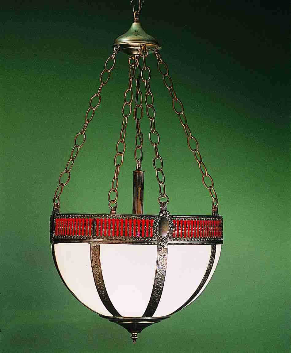 Meyda Tiffany 26804 16 Inch Bent Gothic Basket-4 Lt Center Rod/4 Chains/4 Wire/Cnpy