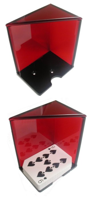 Poker 10-2030RED 6 Deck Discard Holder with Top - Red POKER265