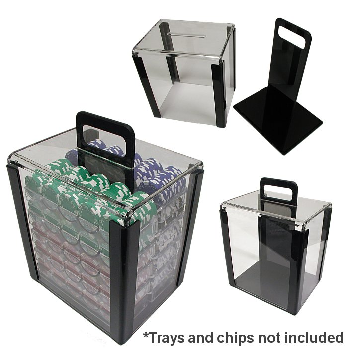 Poker 10-CARRIER 1000 Chip Capacity Clear Carrier
