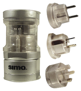 Compact Appliances - SIMA SIP-3 International Compact Travel Power Plug Set