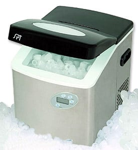 Sunpentown IM-101S Portable Ice Maker with digital controls & Stainless Steel Body