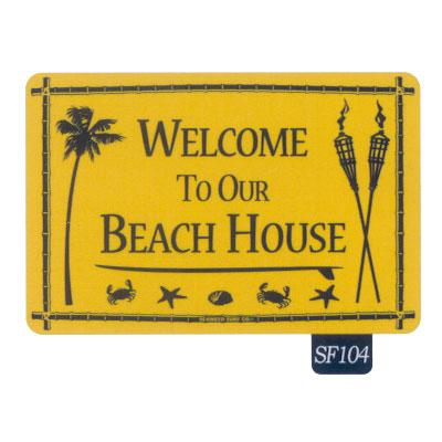 Seaweed Surf Co SF104 12X18 Aluminum Sign Welcome To Our Beach House