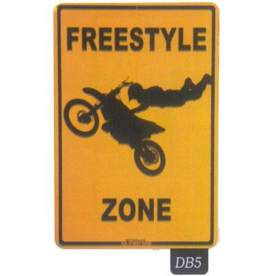 Seaweed Surf Co DB5 12X18 Aluminum Sign Freestyle Zone
