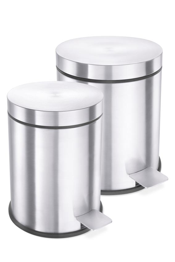 Zack 40300 VASCA pedal bin  0 85 gall.- Stainless Steal