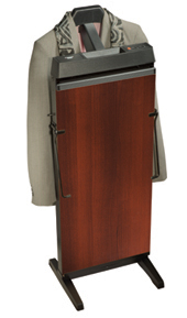 Corby 3300W Pants Press Valet Walnut wood effect with black trim